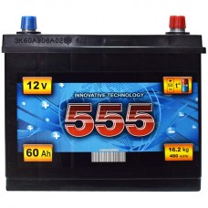 555 12v 60Ah EN480A R+ (ASIA) / Аккумулятор