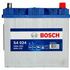 BOSCH S4024 12v 60Ah EN540A R+ (Asia) / Аккумулятор