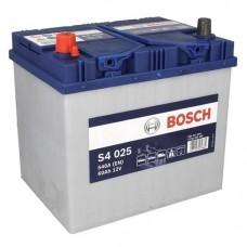 BOSCH S4025 12v 60Ah EN540A L+ (Asia) / Аккумулятор
