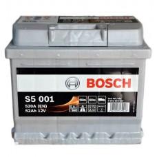 BOSCH S5001 12v 52Ah EN520A R+ / Аккумулятор