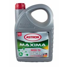 Полусинтетическое моторное масло Astron Maxima Diesel TSi 10W-40 4 л (КИЛ193123)