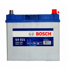 BOSCH S4021 12v 45Ah EN330A R+ (Asia) / Аккумулятор