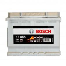 BOSCH S5006 12v 63Ah EN610A L+ / Аккумулятор