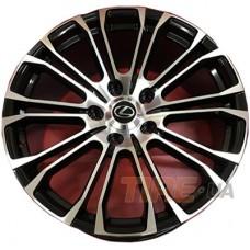 Replica Lexus (LX1125) 10x22 5x150 ET40 DIA110,1 (BKF)