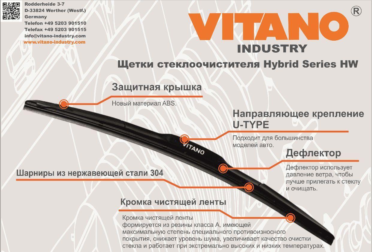Стеклоочистители VITANO - идеальный по своим характеристикам продукт