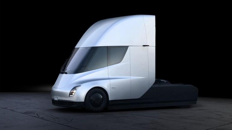 Tesla показала полностью электрический грузовик  Tesla Semi-Truck