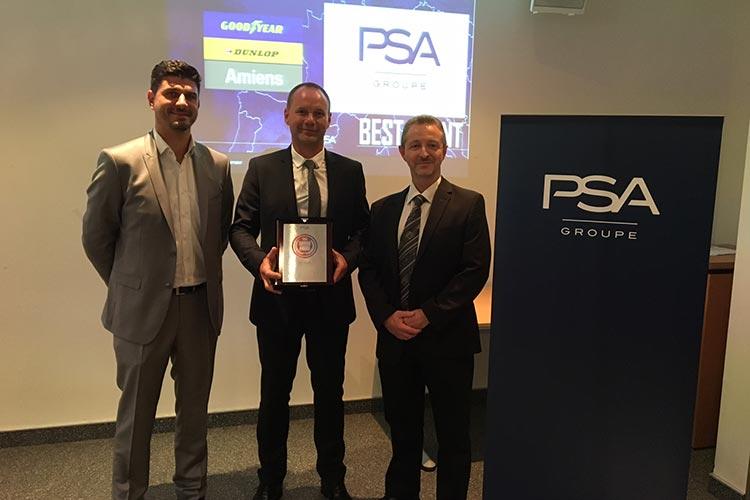 Французский завод Goodyear получил награду от PSA Groupe